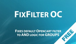 FixFilter OC2x - fixes default Opencart filter
