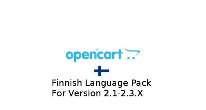 Opencart 2 (2.1-2.3.x) Finnish Language Pack