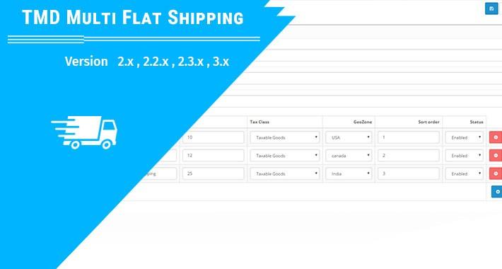 Multi Flat Shipping