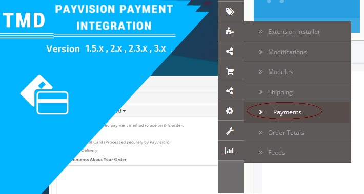 PayVision Payment Integration(1.5.x , 2.x & 3.x)
