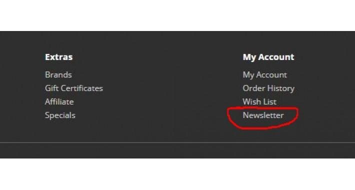 Remove Newsletter – OpenCart 3.x [OCMOD]