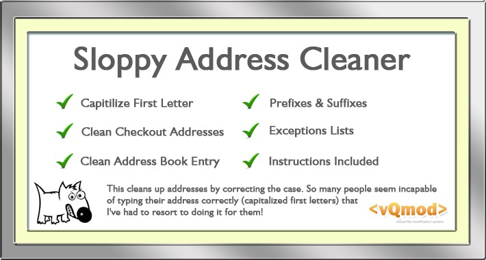 Sloppy Address Cleaner