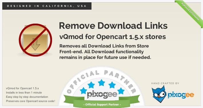 Remove Download Links - vQmod