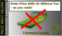 Price Input Helper 3 - enter prices with tax inc..