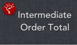 Intermediate Order Total