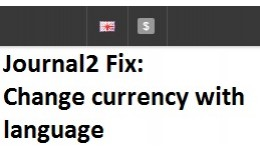 Change currency with language