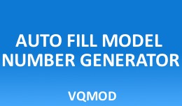 Auto Fill Model Number Generator