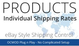 Individual Product Item Shipping Rates eBay Style