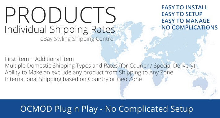 Product Individual Per Item Shipping Rates  eBay Style