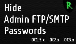 Hide Admin FTP/SMTP Passwords