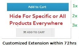Hide cart button or Disable Add to Cart Opencart