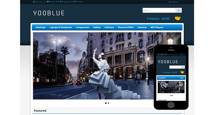 Yooblue - Free Opencart Theme
