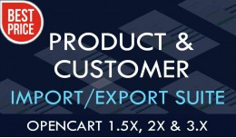 Product & Customer Import/Export Suite