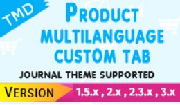 Tmd product custom tab Multilanguage