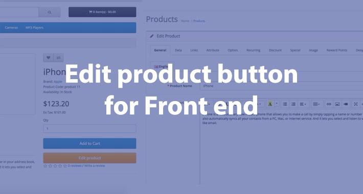 Edit product button (ocmod)
