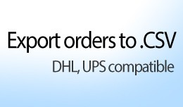Export orders to .CSV (DHL, UPS compatible)