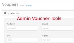 Admin Voucher Tools