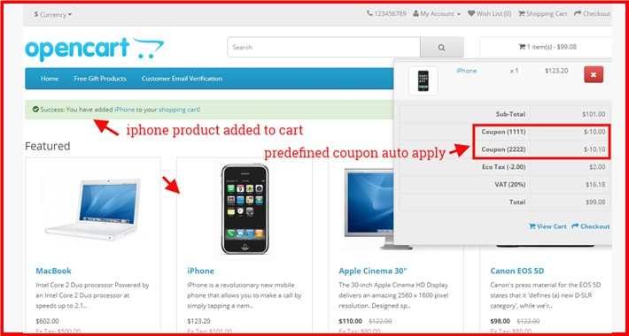 Auto Apply Coupon + Allow To Apply Multi Coupon