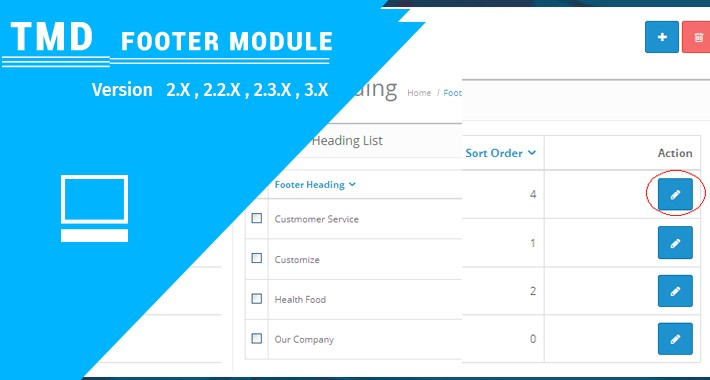 Opencart Footer Menu (Multilanguage supported)