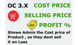 Cost Price , Sale Price , Profit OC 3.x
