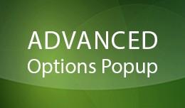 Advanced Options Popup