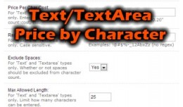 Text/Textarea Pricing by Character or Word (2.x/..