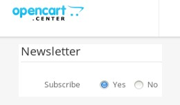 Customer registration - Newsletter subscription ..
