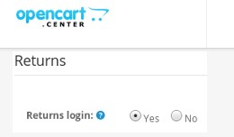 Returns - Customer login required