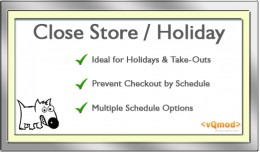 Close Store/Checkout Closed/Holiday & Openin..