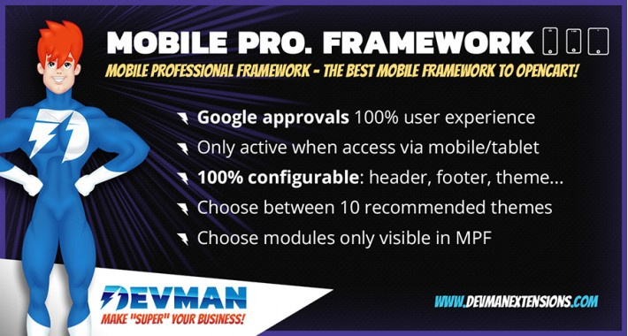 Mobile Professional Framework - MPF - Template OpenCart