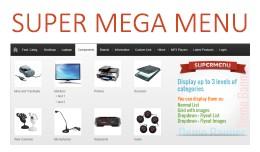 Super Mega Menu V2.4 - opencart module
