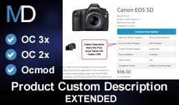 Product Custom Description - Extended