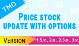 price and stock update with options (1.5.x , 2.x..