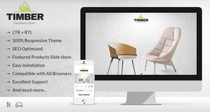 Timber Furniture Opencart Theme - OPCADD030
