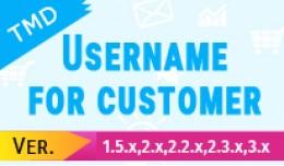 Username for customer(1.5.x , 2.x & 3.x)