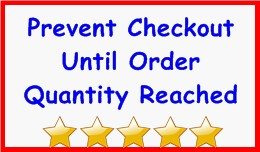 Prevent Checkout Until Order Quantity Reached