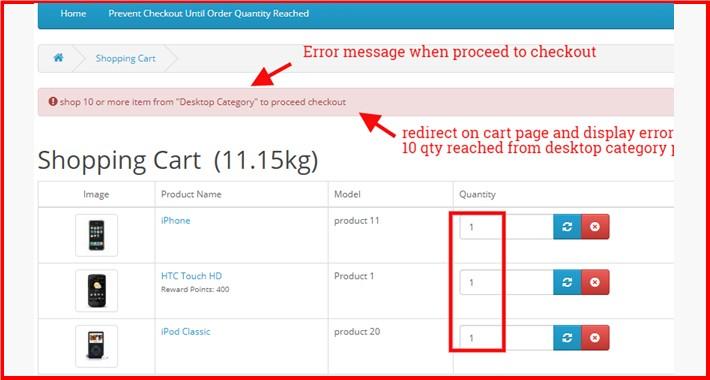 Prevent Checkout Until Order Quantity Reached