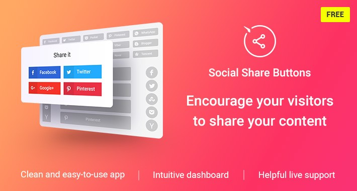Social Share Buttons for OpenCart