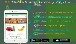Opencart Grocery Store Pro + Mobile App For iOS ..