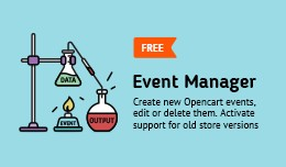 Event Manager for Opencart (create, edit, delete..