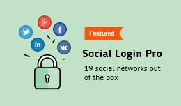 Social Login PRO (PayPal, Facebook, Instagram, T..