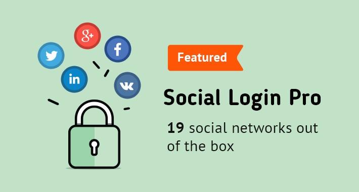 Social Login PRO (PayPal, Facebook, Instagram, Tumbler etc.)