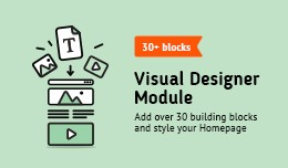 Visual Designer Module (More than 30 building bl..