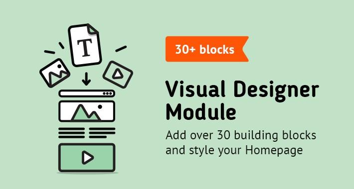 Visual Designer Module (More than 30 building blocks)
