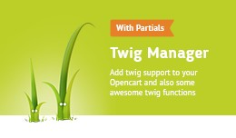 Twig Manager (add .twig support for your opencar..