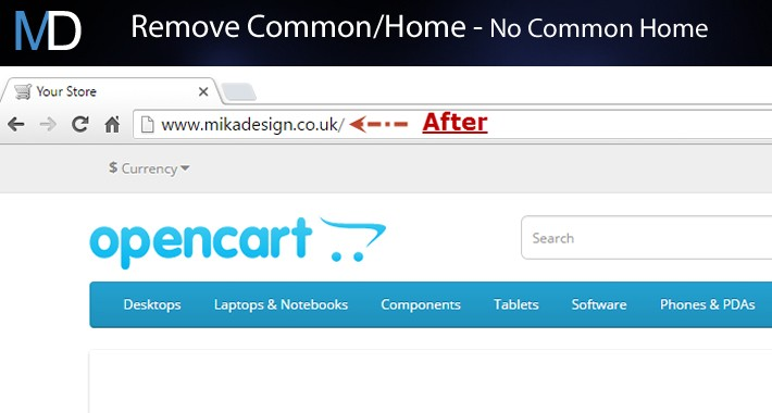 Remove Common/Home + SEO URL Fix