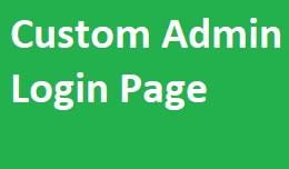 Custom Admin Login Page