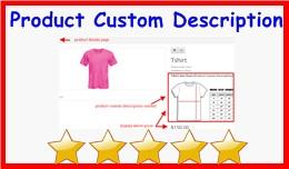 Product Custom Description