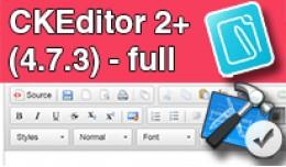 CKEditor 2+ (4.7.3) - full