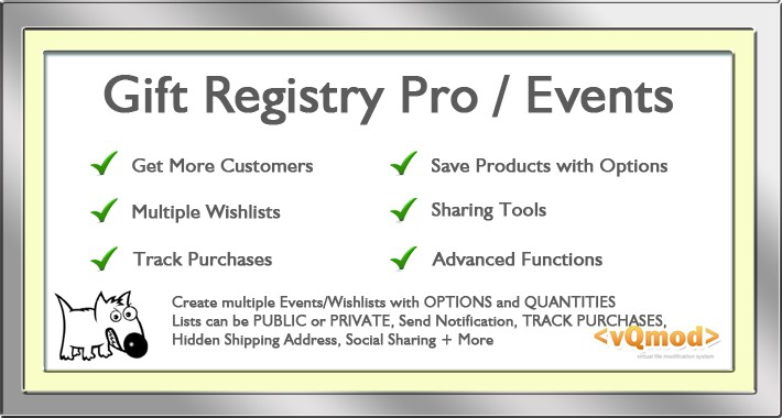 Gift Registry Pro - Multiple Wishlists